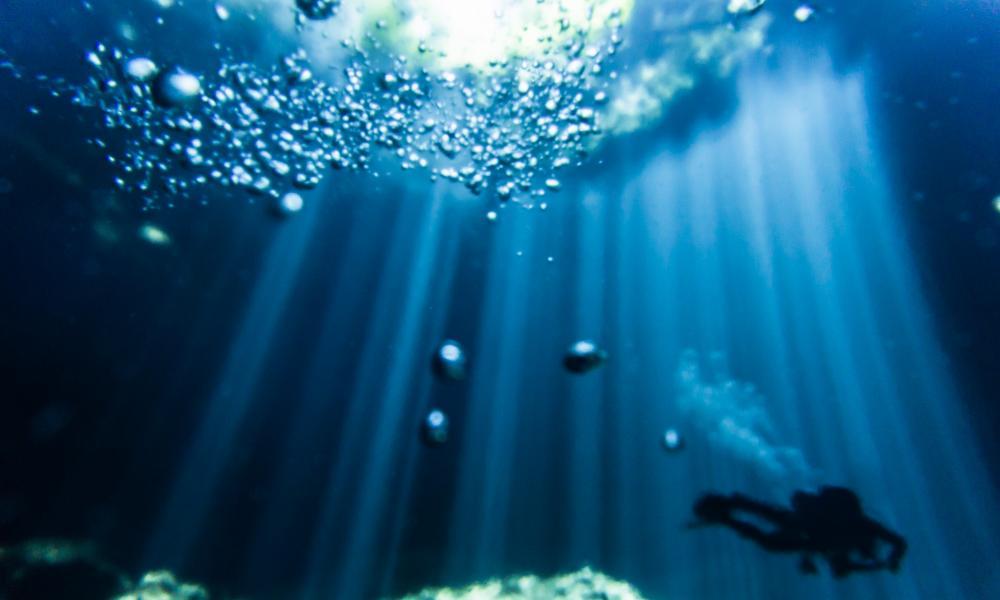 Tulum Cavern Diving Diver