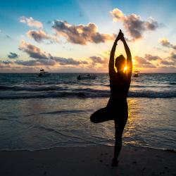 Practicing Yoga Tulum Tulum Yoga Sunset