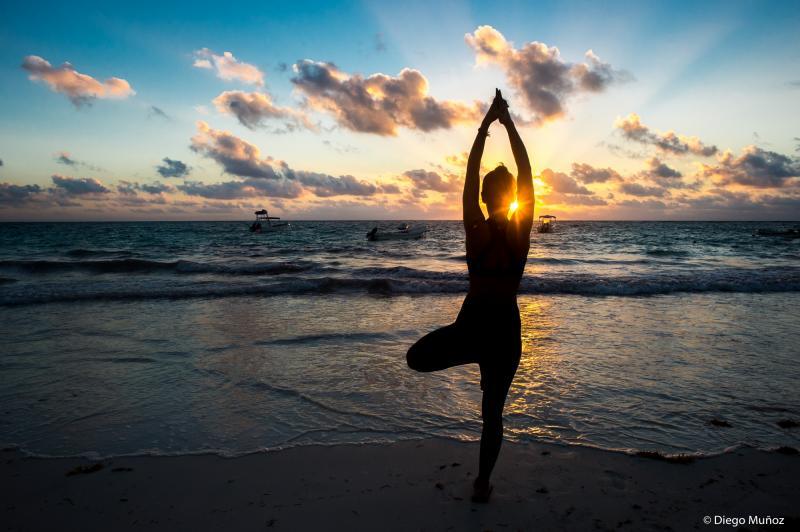 Practicing Yoga Tulum Tulum Yoga Sunset